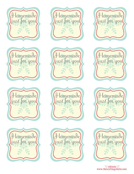Homemade christmas tags homemade free printable and printable tags free printable blank homemade tags homemade just for you room to add from who or other shot note negle Choice Image