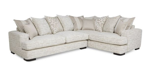 Corner Sofa Dfs Martinez Price Of Set In Philippines Indulge Left Hand Facing 3 Seater Pillow Back