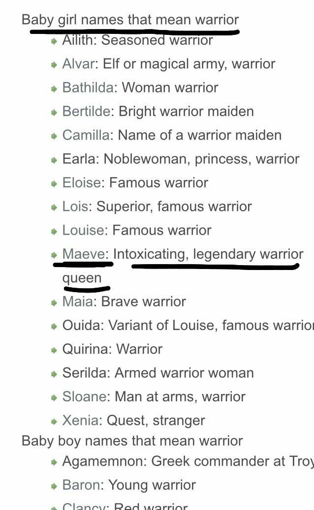 Female Names That Mean Warrior Writing Inspiration Writing A