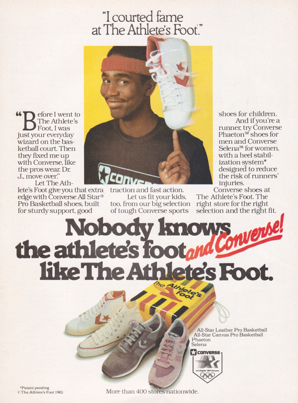 I courted fame at The Athlete's Foot