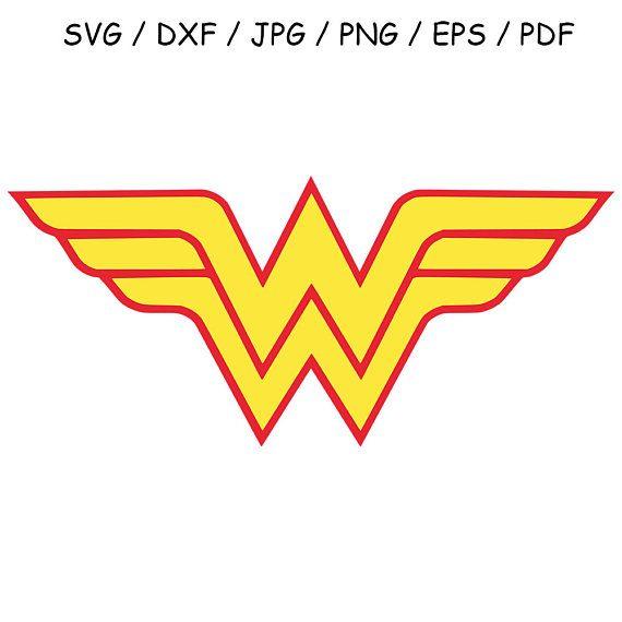 Wonder Woman Svg Dxf Wonder Woman Logo Clipart Vector Cut File