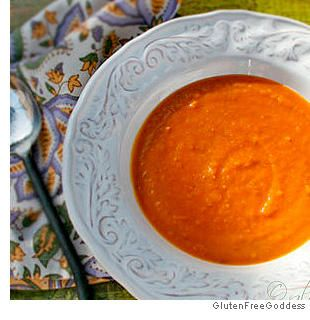 Sweet Potato Soup with Ginger- crank up your slow cooker and simmer this super-easy soup all day long!