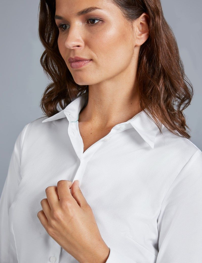 4bc567f314cb Women's Executive White Twill Fitted Shirt - Double Cuff ekkor: 2018 ...