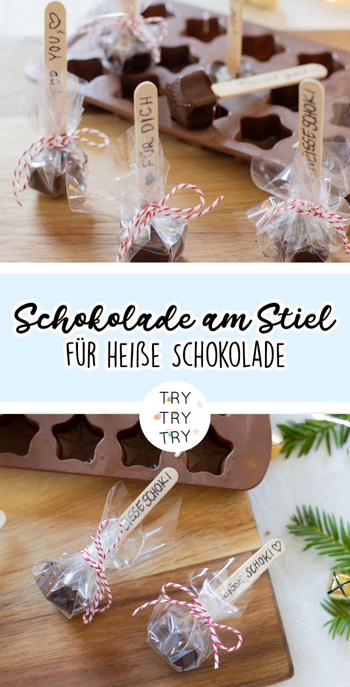 DIY Geschenk: Schokolade am Stiel (für heiße Schokolade)