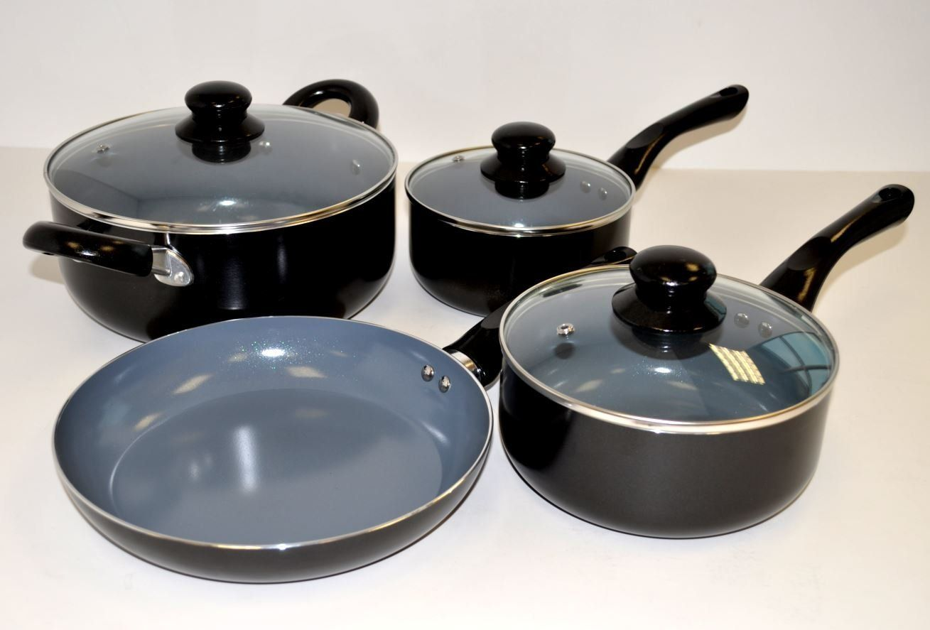 Cookware gt see more select by calphalon ceramic nonstick 8 inch an - Uniware 7 Piece Aluminum Ceramic Cookware Set Of Black Be Sure To Check Out This Awesome Product 503 Service Unavailable Error See More