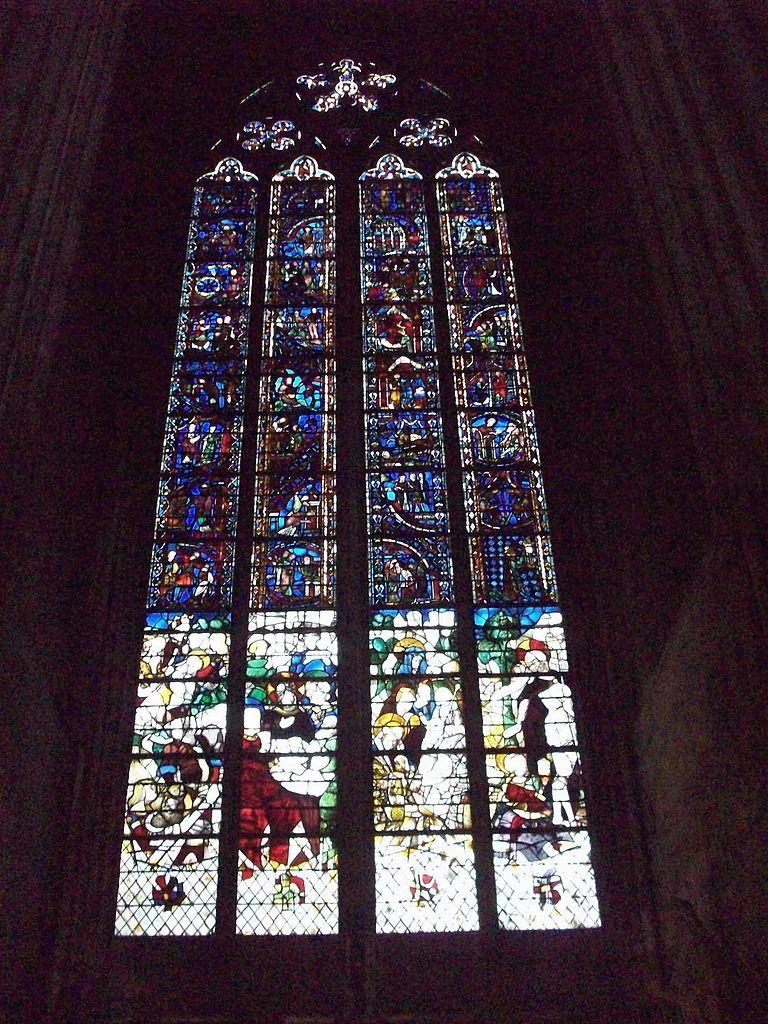 Vitral da Catedral de Notre Dame de Rouen, França.  Fotografia: Giogo.