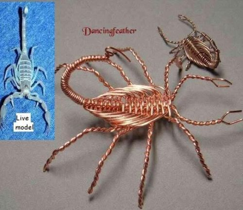 Wire wrapped scorpion free tutorial