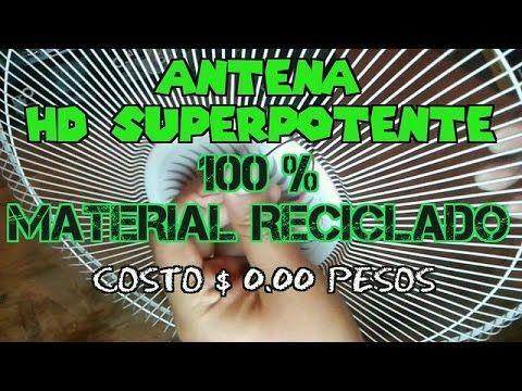 Antena Hd Super Potente 100 Material Reciclado Costo 0 00
