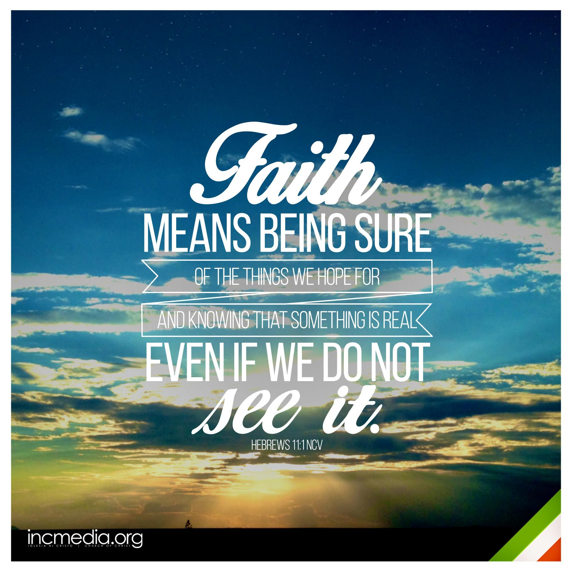 Hebrews 11 1 Ncv