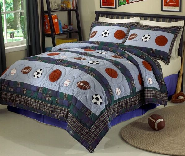 Queen Size Sports Bedding Set Sports Bedding Action Quilt Set With Optional Sports Bed Skirt And Sports Bedding Boys Sports Bedding Bedding Sets