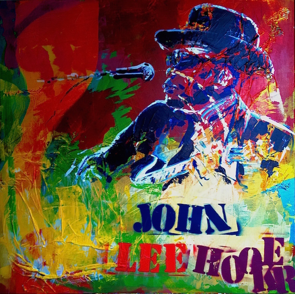 John Lee Hooker Peinture Acrylique Sur Toile Format 100cm X 100cm