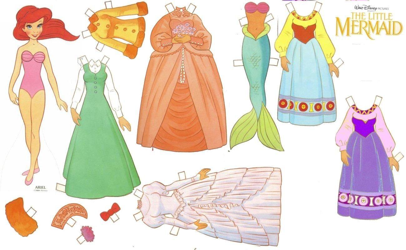 Recortables de dibujos Disney | Ariel, la sirenita | Paper Dolls ...