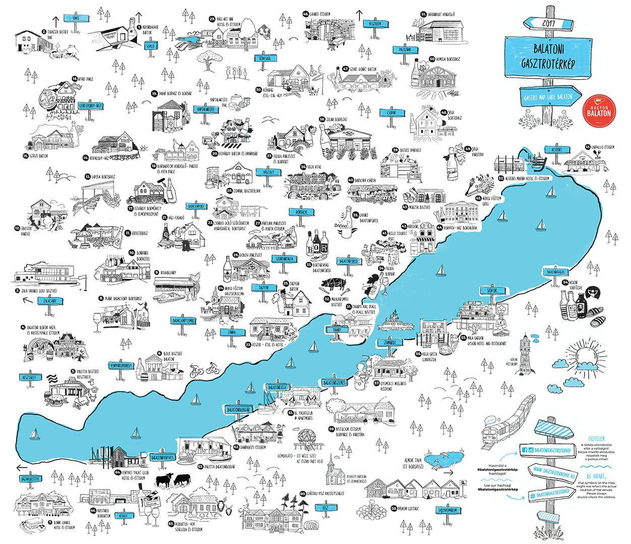 Index - Kultúr - Egyetlen térképen a Balaton összes jó étterme