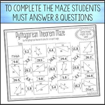 Pin On M Th Project Pythagorean theorem worksheet 8th grade