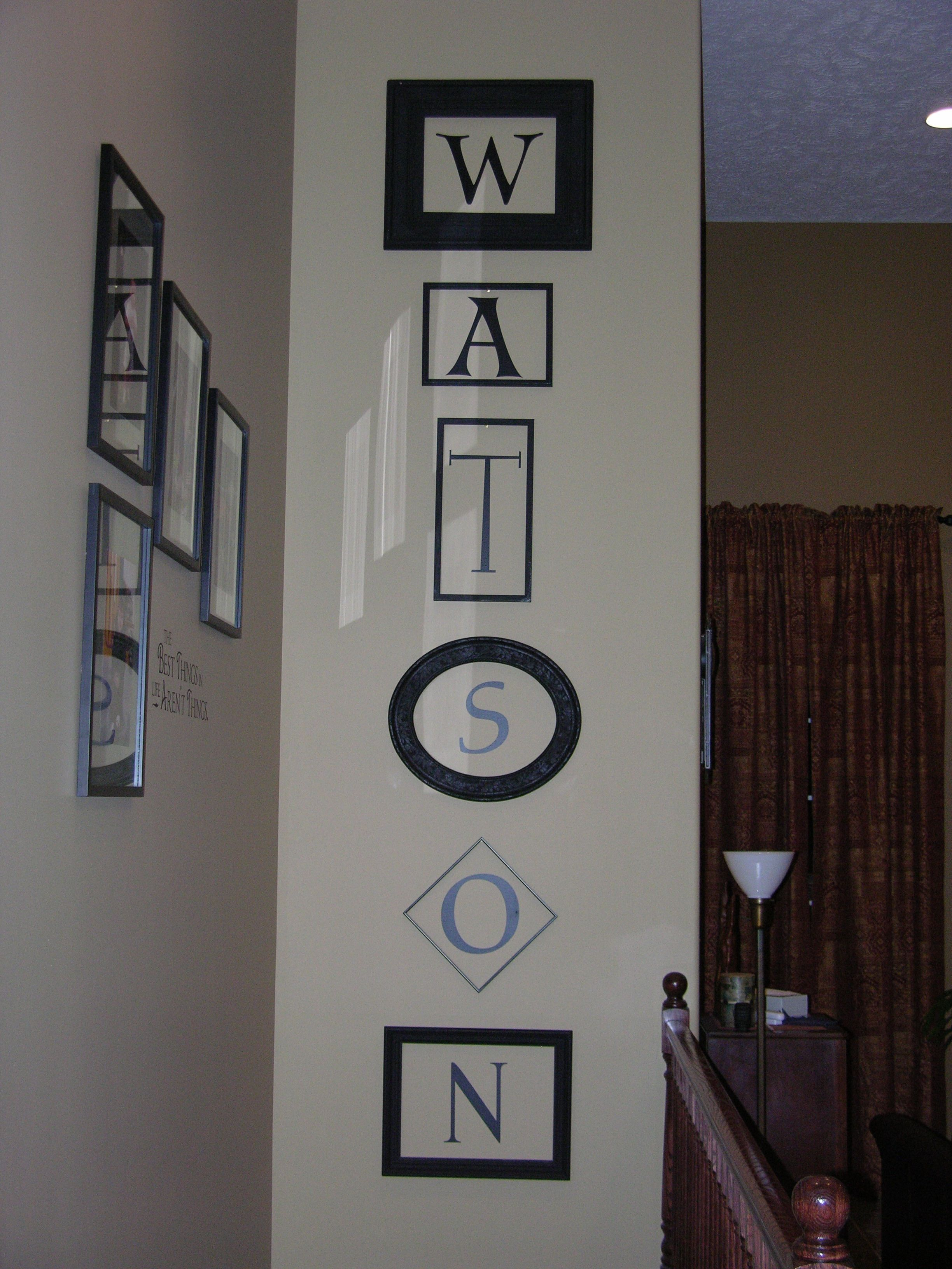 Love This Idea To Fill Empty Wall Space Uppercase Lettering