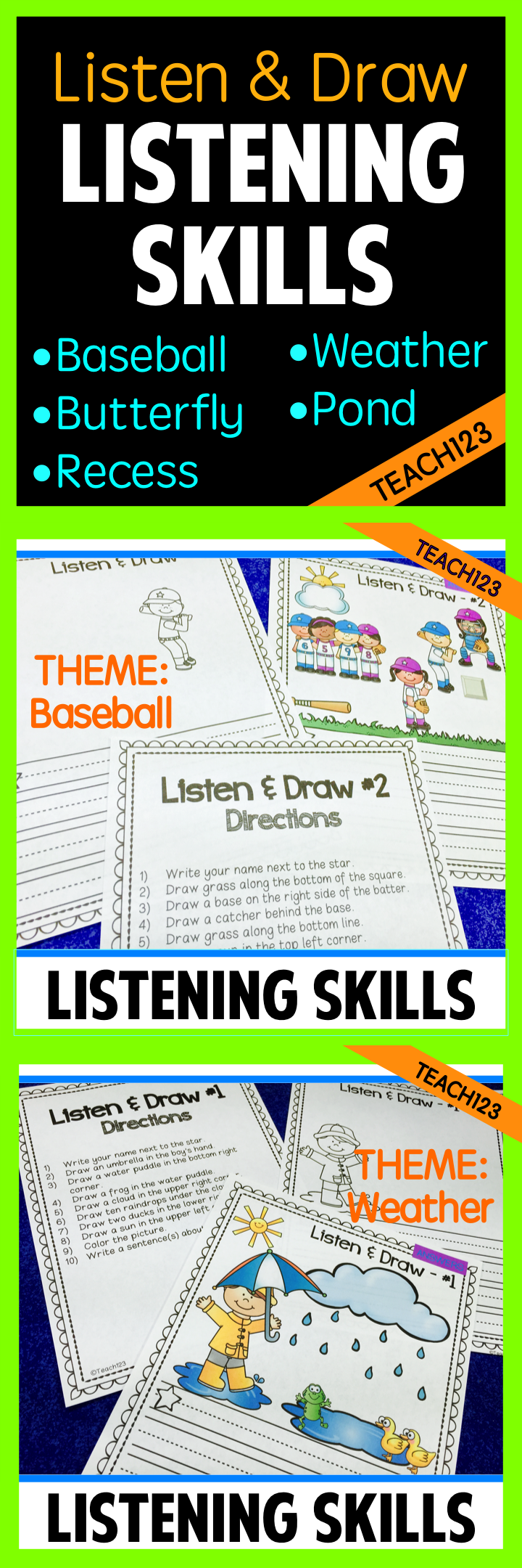 Great For Inside Recess Listen And Follow Directions With