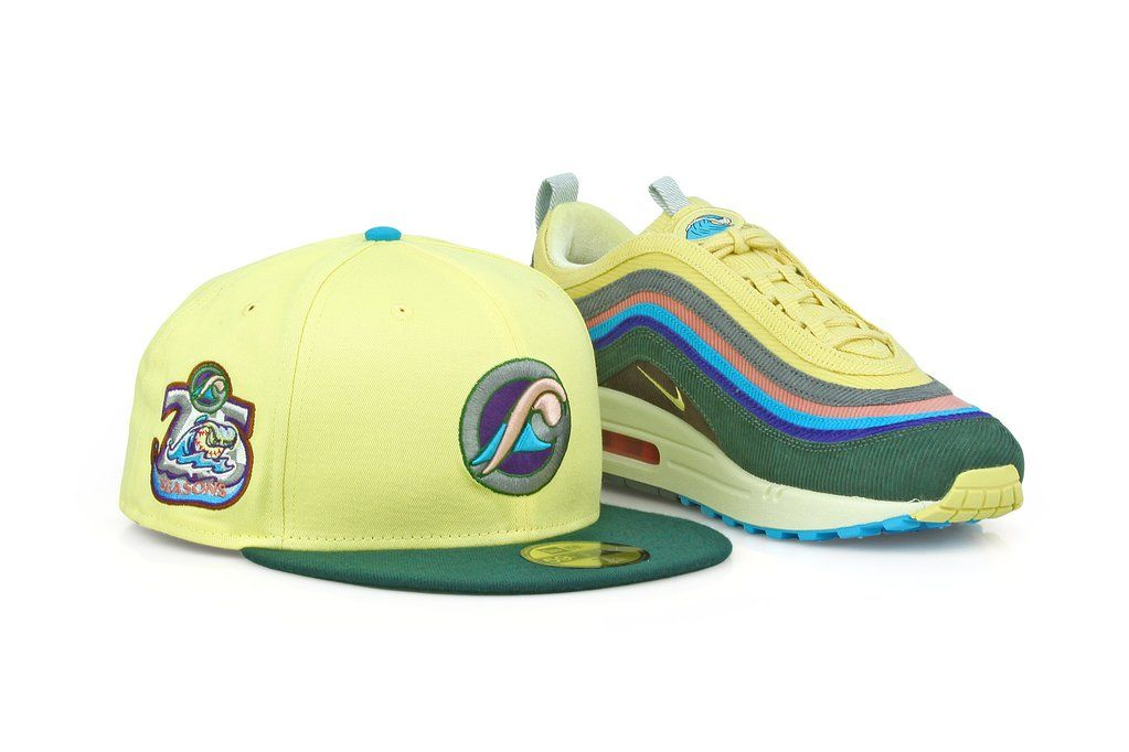 67a16ea9b8d WEST MICHIGAN WHITECAPS 25 SEASONS AIR MAX 1 97 SEAN WOTHERSPOON NEW ERA HAT