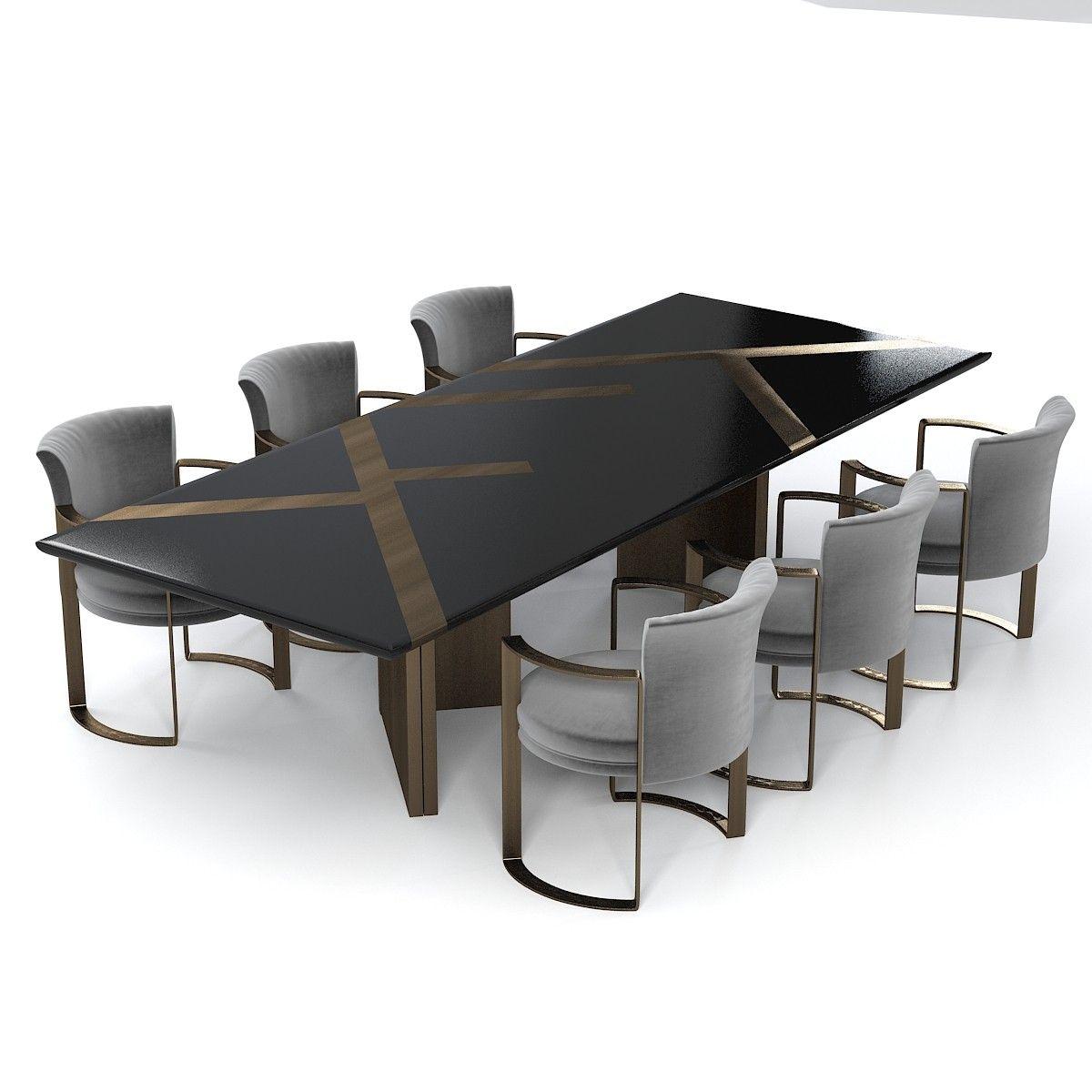 3d Model Fendi Casa Margutta 家具 In 2019 Luxury Dining