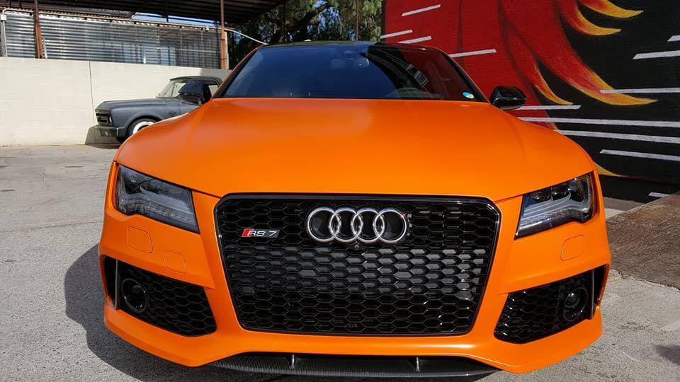 Audi RS7 Vinyl Wrapped in Avery Satin Orange. Originally