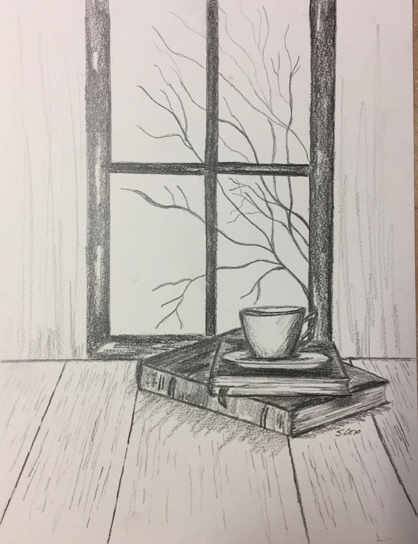 Pencil drawing print, Graphite art, Original Penci