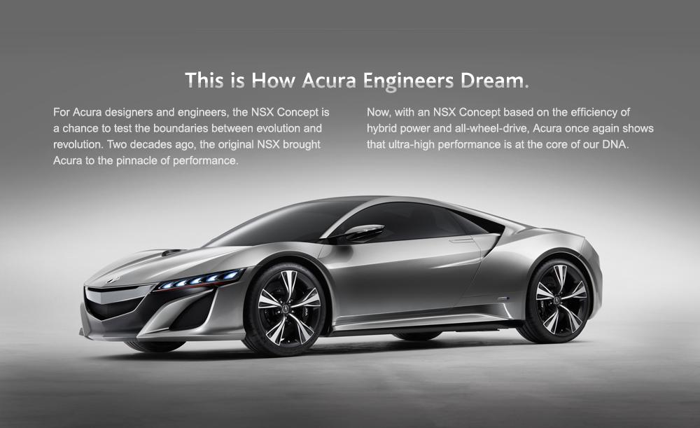 The 2013 Acura NSX. Super sexy!