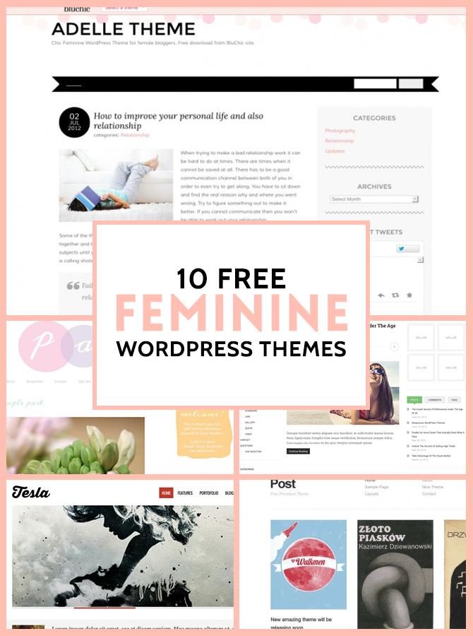 11 Free Feminine WordPress Themes | Grafikdesign