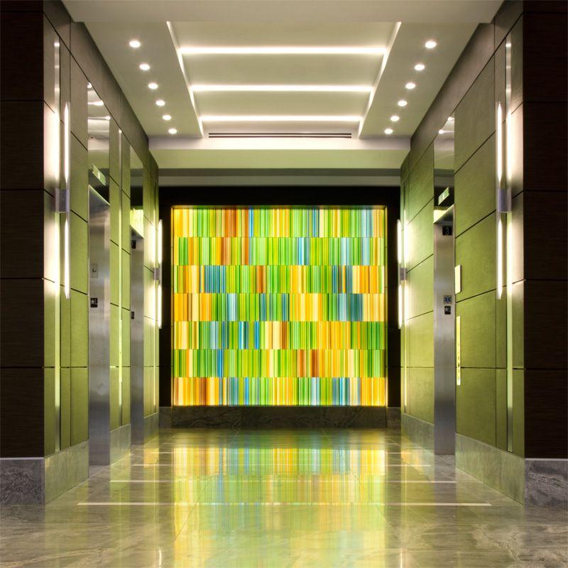 Fallsgrove decorative glass wall | Corporate Art | Pinterest ...