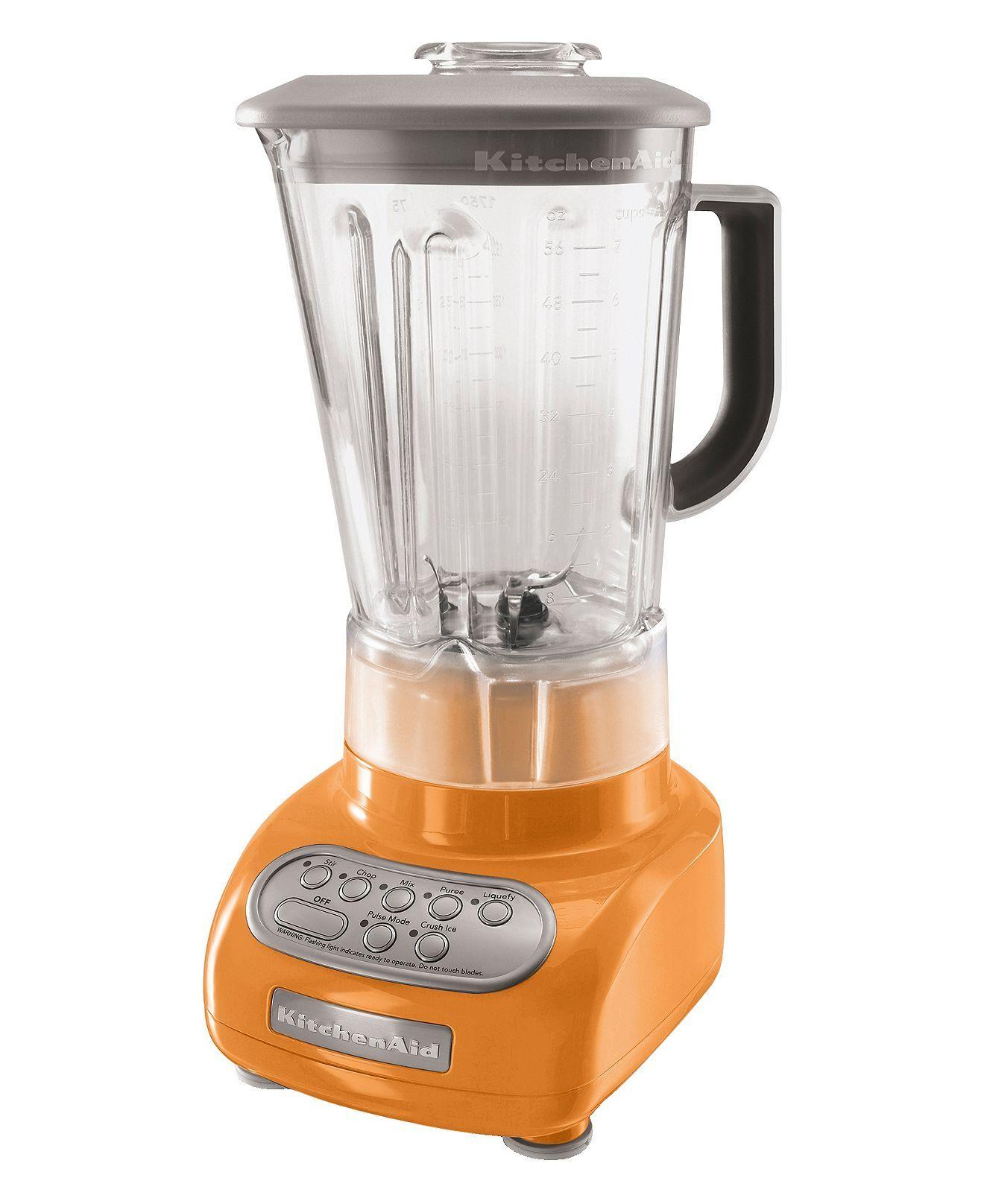 KitchenAid KSB560 Blender, 5 Speed color: Tangerine