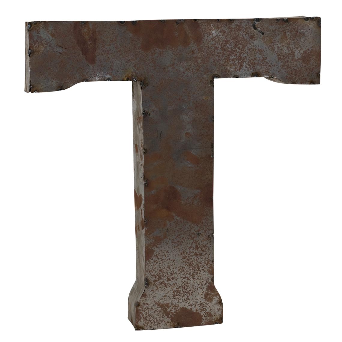 Metal Letter T Tin Letter T