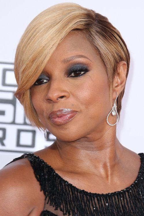 Mary J Blige Short Hair Cut Best Short Hair Styles