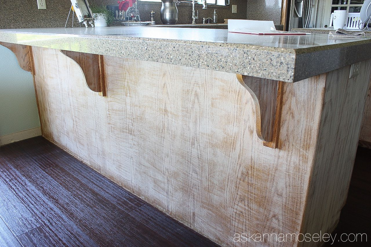 How to Hide Wood Grain on Cabinets (Kitchen Makeover, part ...