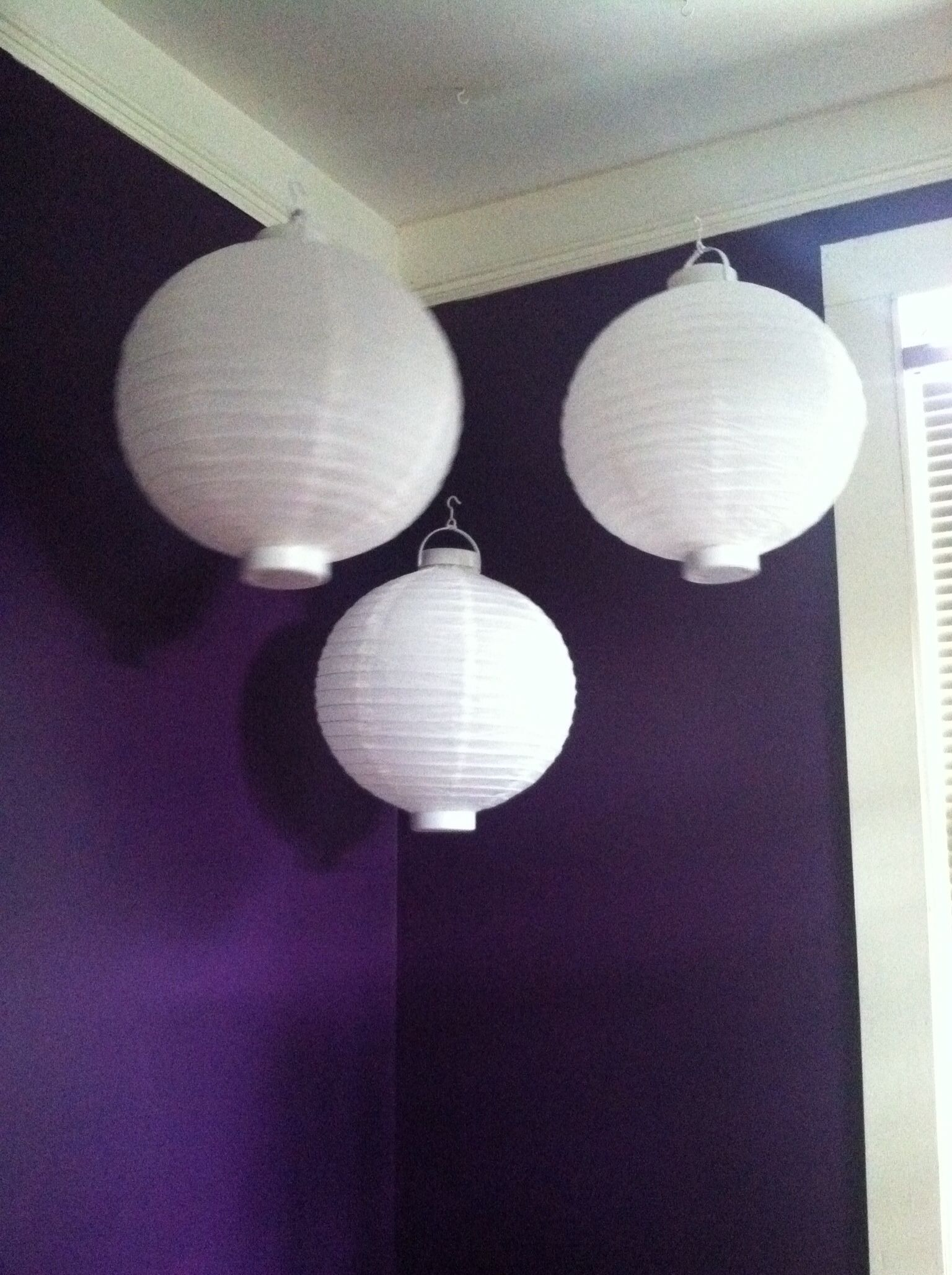 Add lanterns to your room for extra light or decor.