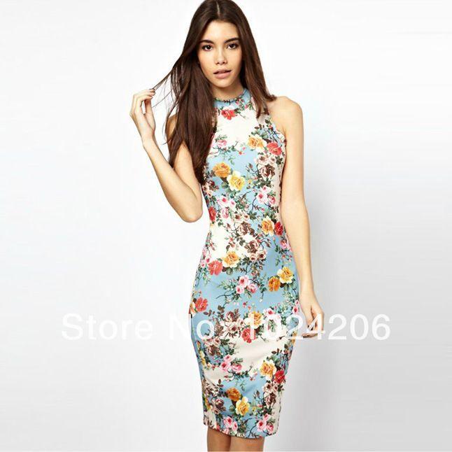 8cc61499a9 2014 New Fashion summer slim Summer Sexy Cherrykeke Long dressesHalt Top  style OL vest Cotton Party Club Dress Suspenders Dress  26.33