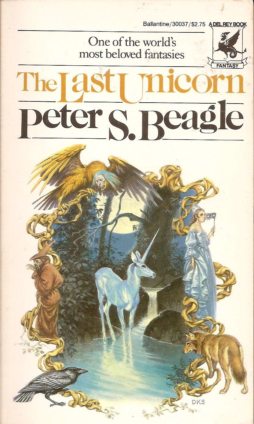 Last Unicorn Peter S Beagle Cover By Darrell K Sweet
