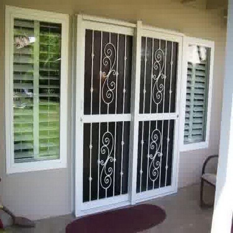 Pin By Ruth J Harvey On Knock Knock Security Door Design Sliding Glass Door Glass Door