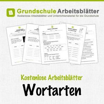 kostenlose arbeitsbl tter und unterrichtsmaterial f r den deutsch unterricht zum thema wortarten. Black Bedroom Furniture Sets. Home Design Ideas