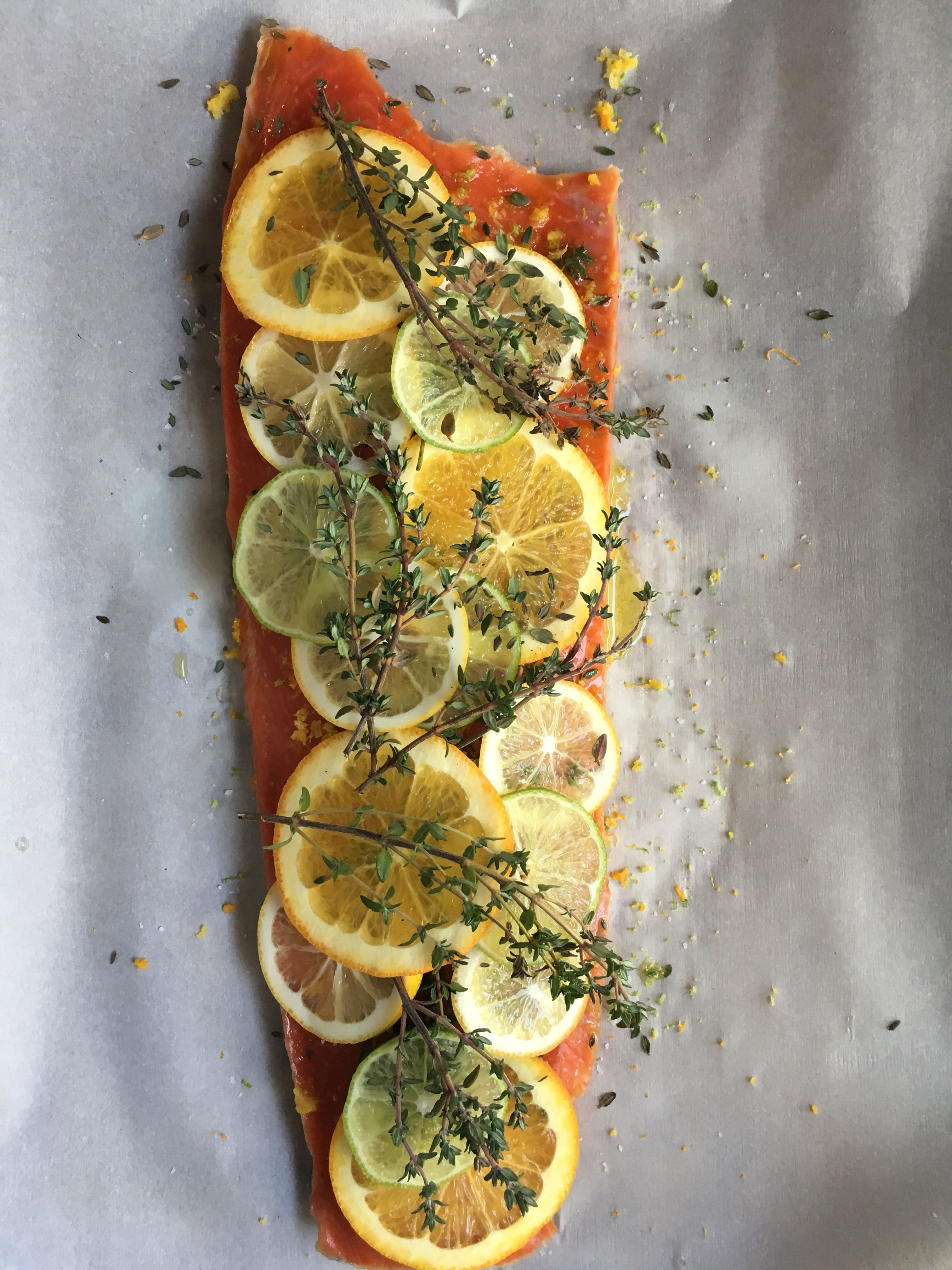 citrus and thyme salmon  clean eating eat seafood