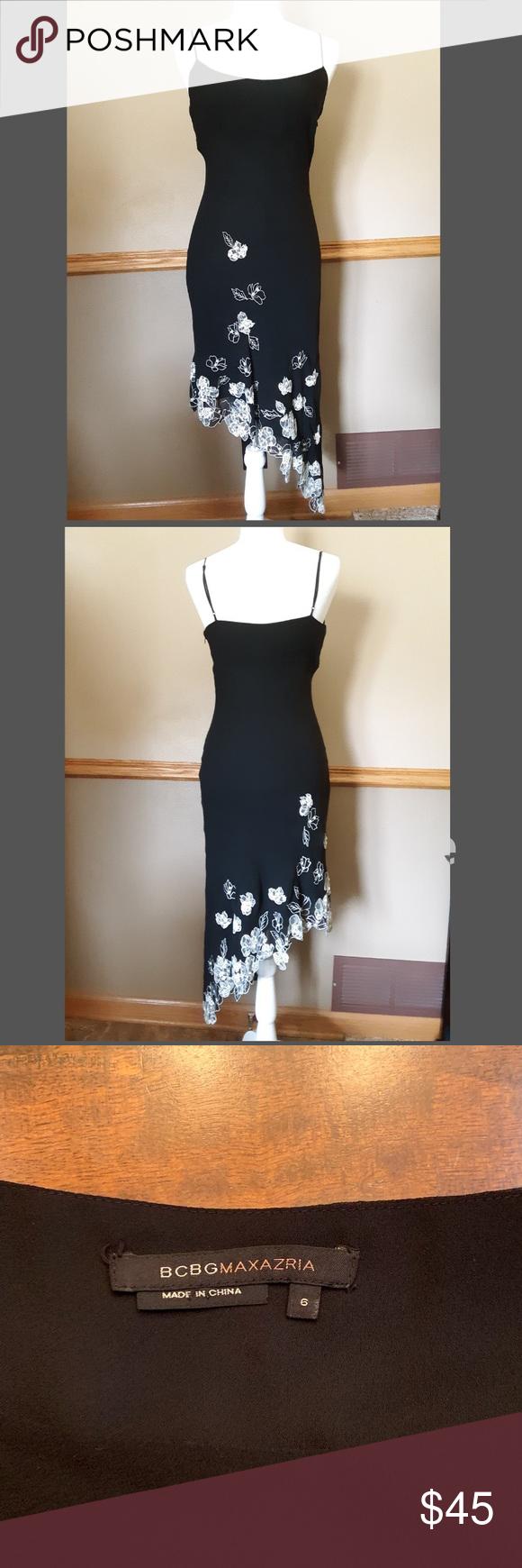 Bcbgmaxazria Black Dress Asymmetrical Black Dress Dresses Black Dress [ 1740 x 580 Pixel ]