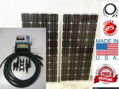 2 160 Watt 12 Volt Battery Charger Solar Panel Off Grid Rv Boat 320 Watt Total Ad Solar Panels Diy Rv Solar
