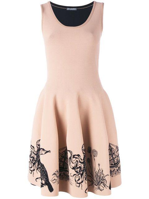 ALEXANDER MCQUEEN sea creature embroidered dress. #alexandermcqueen #cloth #dress