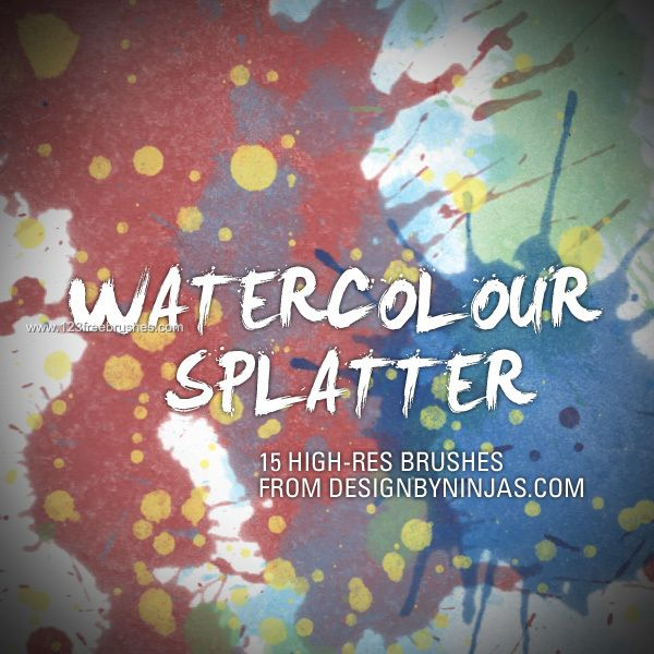 Watercolour Splatter Set Watercolor Splatter Photoshop Brushes