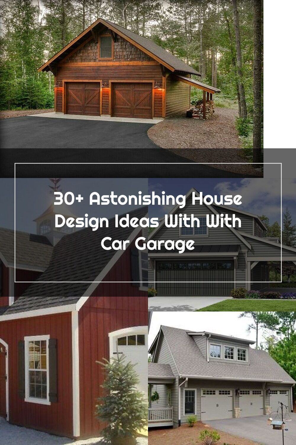 Cool 30+ Astonishing House Design Ideas With With Car Garage.