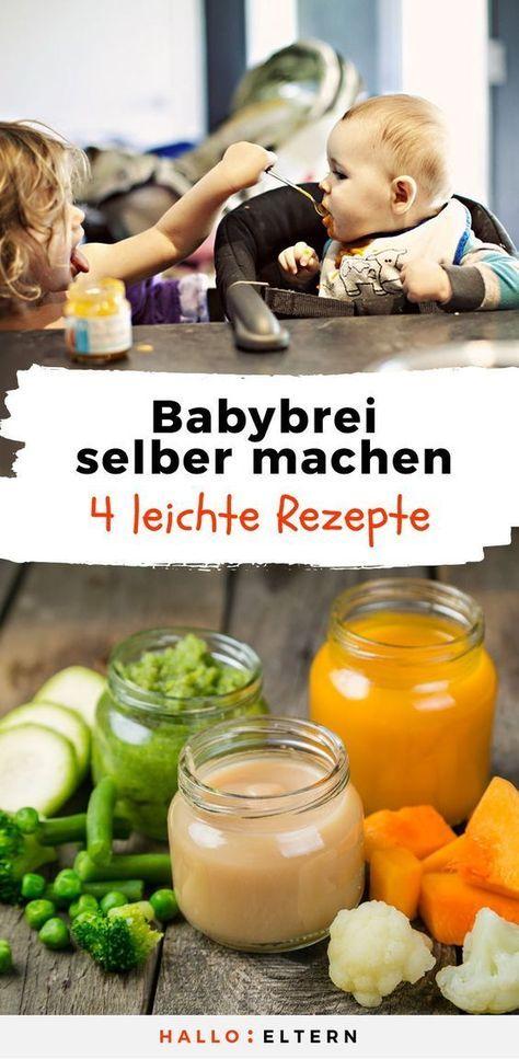 Babybrei selber machen: 4 Rezepte für jede Beikostphase #homemadebabyfood