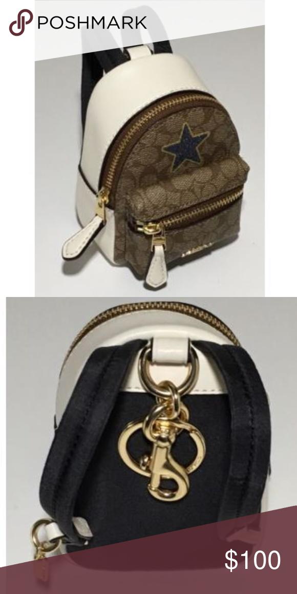 f7d98004dbb5 COACH Mini Backpack/ Coin Purse, Key Chain Mini Backpack/ Coin Purse, Key