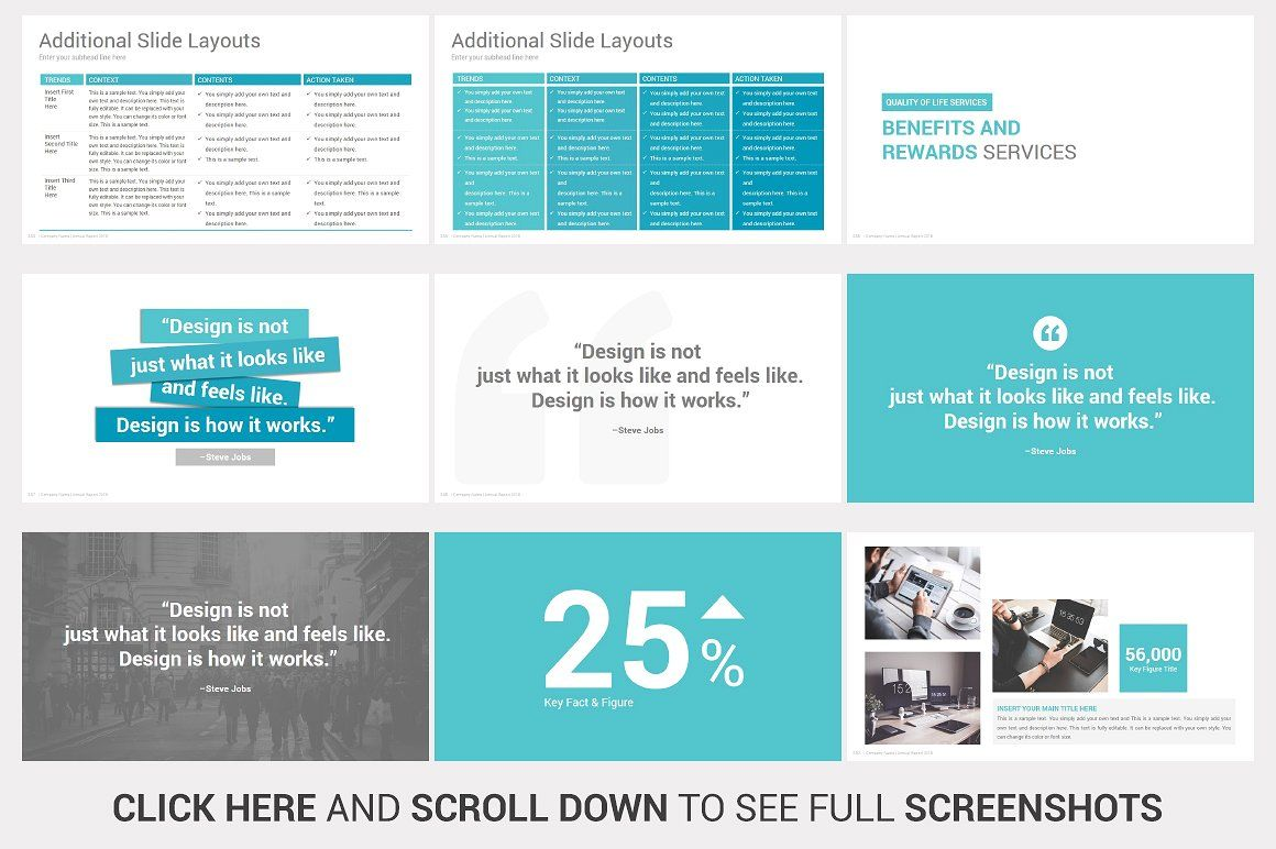 Annual Report Powerpoint Template With Images Annual Report