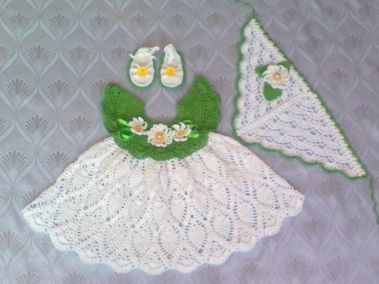 Pics Photos - Pictures Vestido Bebe Tejido Crochet Mercadolibre ...