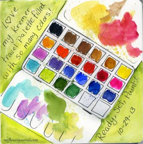 Watercolor On The Go Watercolor Pallet Watercolor Pallet Painting