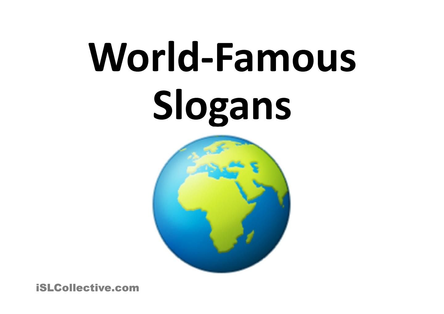 World Famous Slogans Game