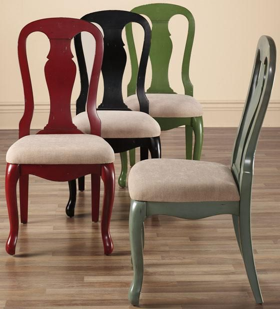 Dining Room Chairs? Repaint Blue To Get Rid Of The