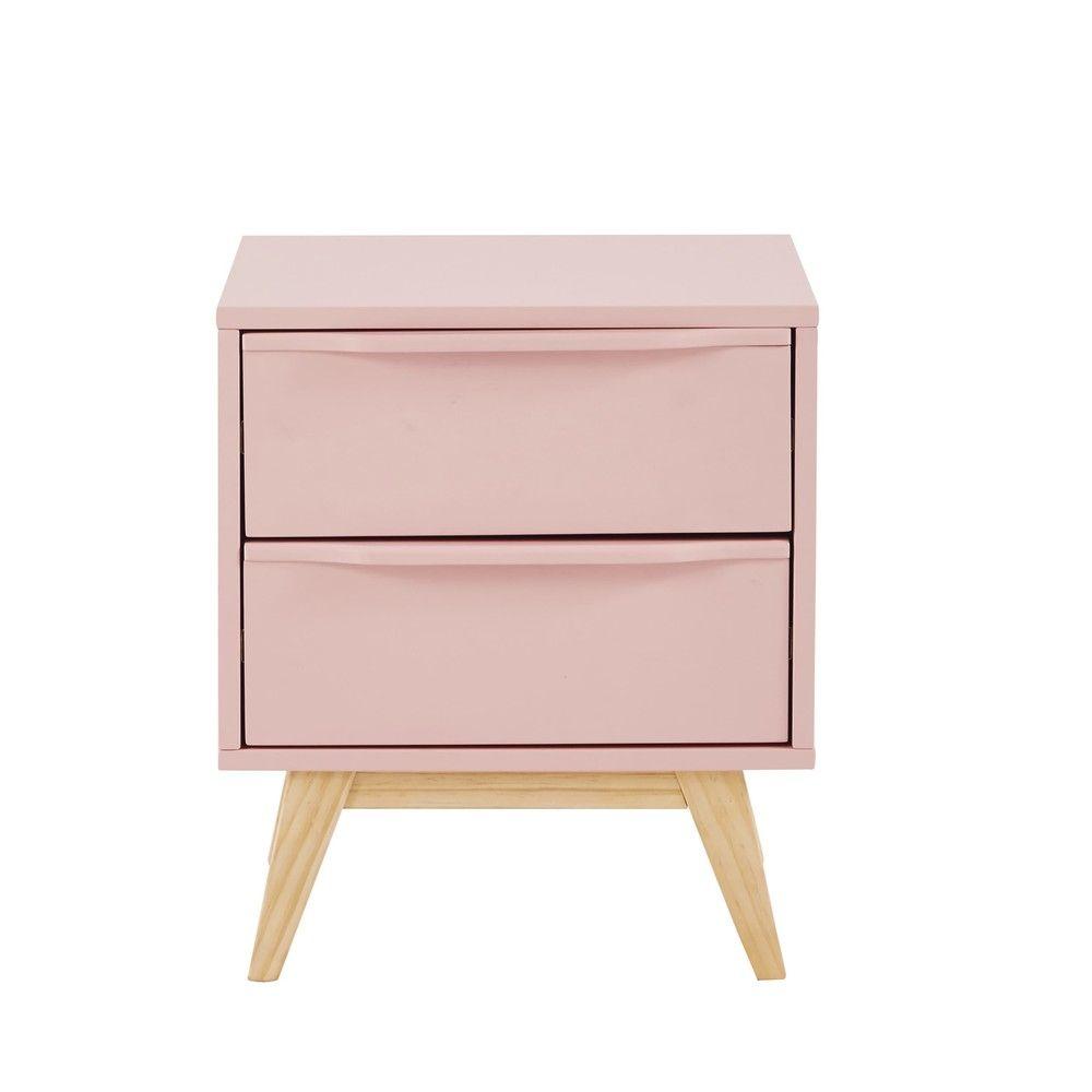 Bedden Hoofdeindes En Nachtkastjes Pink Bedside Tables Vintage